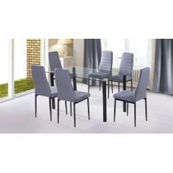 Conjunto mesa + 6 sillas Yuri
